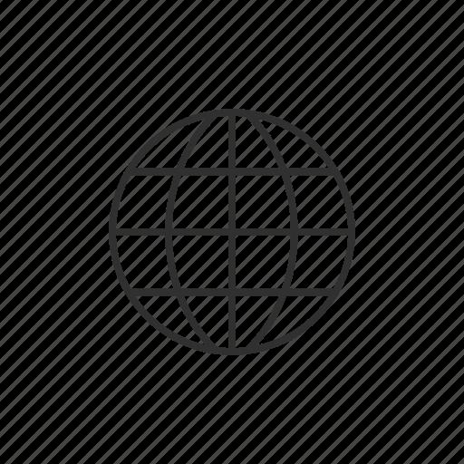 globe, international, network, world icon