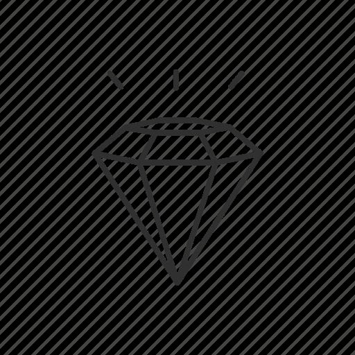 diamond, gem, jewelry, stone icon