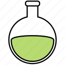 apparatus, bottom, chemical, flask, round icon