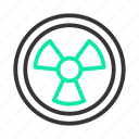 chemistry, msds, radioactive, science icon