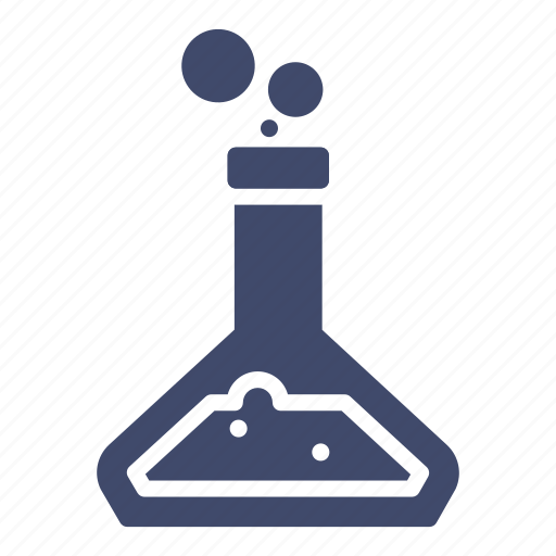 chemical reaction, chemical solution, chemistry, erlenmeyer flask, flask, science icon