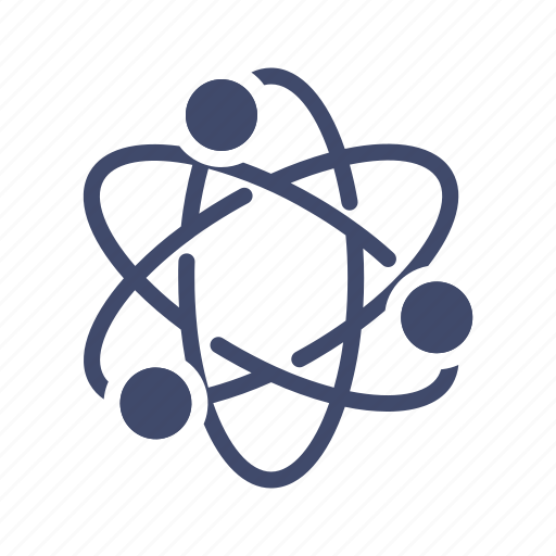 atom, chemistry, electron, rutherford model, science icon