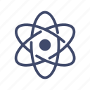 atom, chemistry, neutron, nucleus, proton, rutherford model, science icon