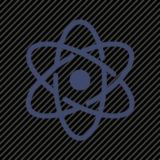 atom, chemistry, neutron, nucleus, proton, rutherford model, science icon