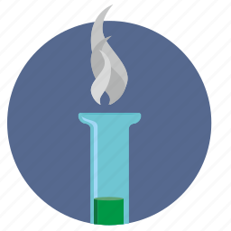 chemistry, fluid, smoke, tube icon