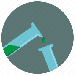 drop, experiment, fluid, test, tube icon
