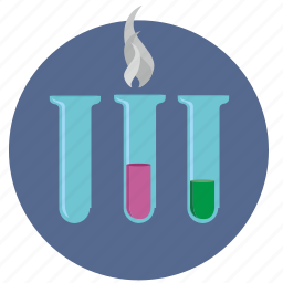 chemistry, fluid, glass, test, tubes icon