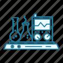 chemicals, chemistry, equipment, flask, laboratory, measurement, reagent icon
