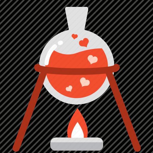 boil, experiment, laboratory, love, mixture, test, valentine icon