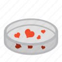 heart, inseminate, lab, love, petri dish, science, test icon
