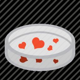 heart, inseminate, lab, love, petri dish, science, test icon