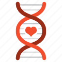 bio, biology, dna, love, romantic, science, valentine icon