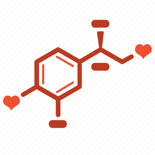 biology, chemical, chemistry, formula, love, passion, valentine icon