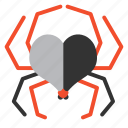 bug, heart, love, romantic, spider, valentine, virus icon