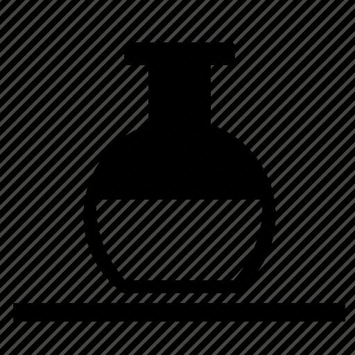 chemistry, fluid, half, test, tube icon