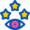 eye, favorite, rating, star, view