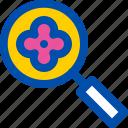 blossom, cherry, find, location, search icon