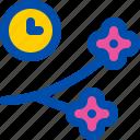 blossom, cherry, flower, sakura, time icon