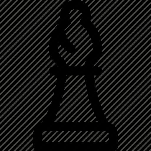 bishop, board, chess, figure, game, piece, white icon