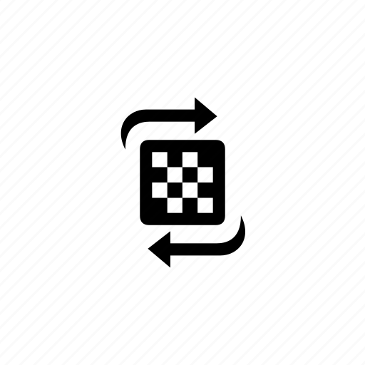 board, chess, flip, rotate, turn icon