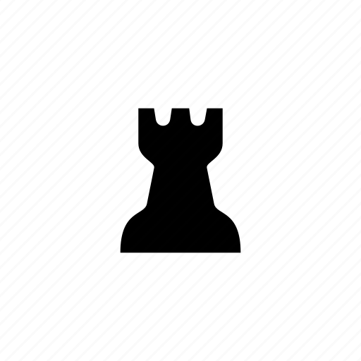 castle, chess, piece, rook icon