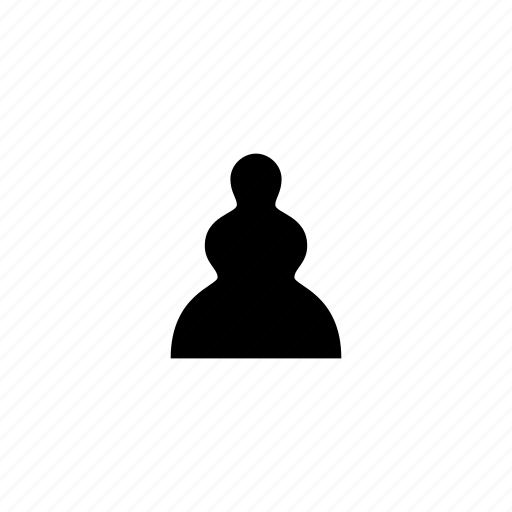 chess, entertainment, game, pawn, piece, scematic icon