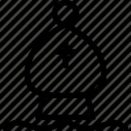 bishop, chess, chess-piece, creative, grid, line, piece, shape icon