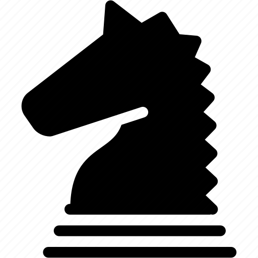 chess, chess-piece, creative, grid, horse, knight, piece, shape icon