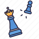 pawn, gambit, checkmate, chess, attack, king