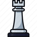 battle, checkmate, chess, figure, games, move, rook icon
