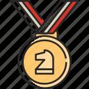 medal, chess, award, winner, prize, badge, achievement