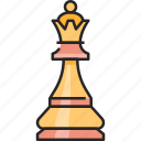 queen, crown, king, chess, strategy, game, piece