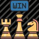 win, winner, award, success, chess, piece, victory