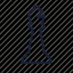 bishop, chess, chess piece, piece icon
