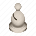 bishop, board, chess, game, piece, white icon