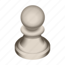 board, chess, game, pawn, piece, white icon