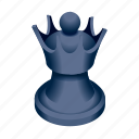 board, chess, game, piece, queen icon