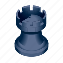 board, chess, game, piece, tower