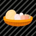 bowl, chicken coop, eggs, factory, farm, farming, food icon