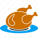 cooking, dish, food, fried, meal, roasted chicken, turkey icon