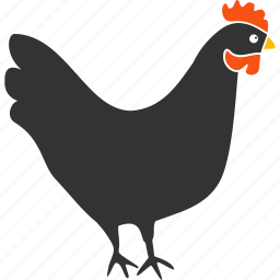 agriculture, bird, chick, chicken, cock, hen, rooster icon