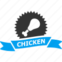 award, badge, best, chicken, fastfood, label, mark icon