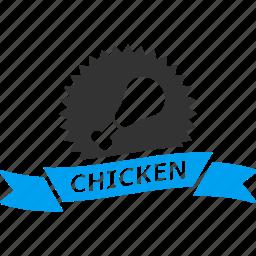 award, badge, best, chicken, fastfood, label, mark icon