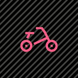 bicycle, child, childhood, fun, ride, transport icon
