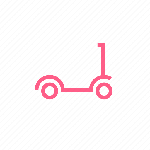 child, childhood, fun, ride, scooter, transport icon