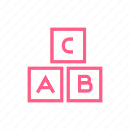 abc, baby, childhood, cubes, education, game icon