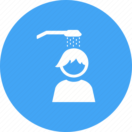 baby, bath, child, kid, playing, shower, water icon