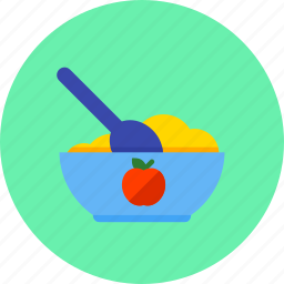 baby, child, eating, food, infant, meal icon
