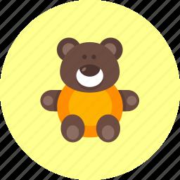 baby, bear, infant, kids, newborn, teddy, toy icon
