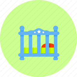 baby, bed, cot, furniture, kids, sleep, toy icon